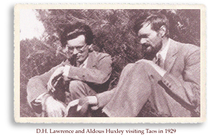 D.H. lawrence and Aldous Huxley in Taos, circa 1929