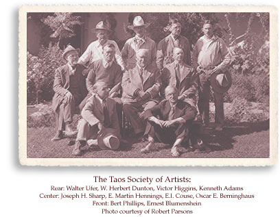 The Taos Society of Artists Founders photo